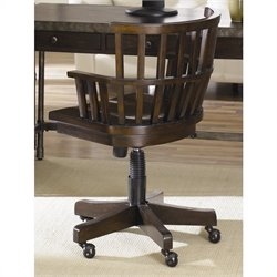 Hammary Structure Desk Office Chair in Distressed Brown