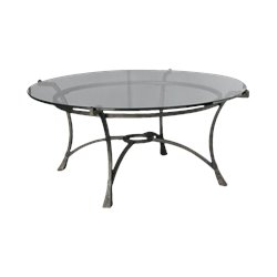 Hammary Sutton Round Cocktail Table in Dark Burnished