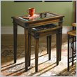 ADD TO YOUR SET: Hammary Hidden Treasures Nesting Table in Rustic Brown Finish