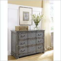 Hammary Hidden Treasures 3 Drawer Accent Chest in Weathered Blue