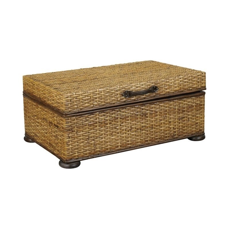 Hammary hidden treasures woven rattan trunk coffee table Trunk coffee table