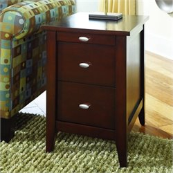Hammary Hidden Treasures Chairside Table in Merlot Finish