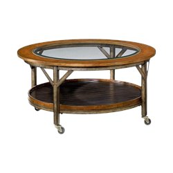 Hammary Mercantile Round Cocktail Table in Whiskey