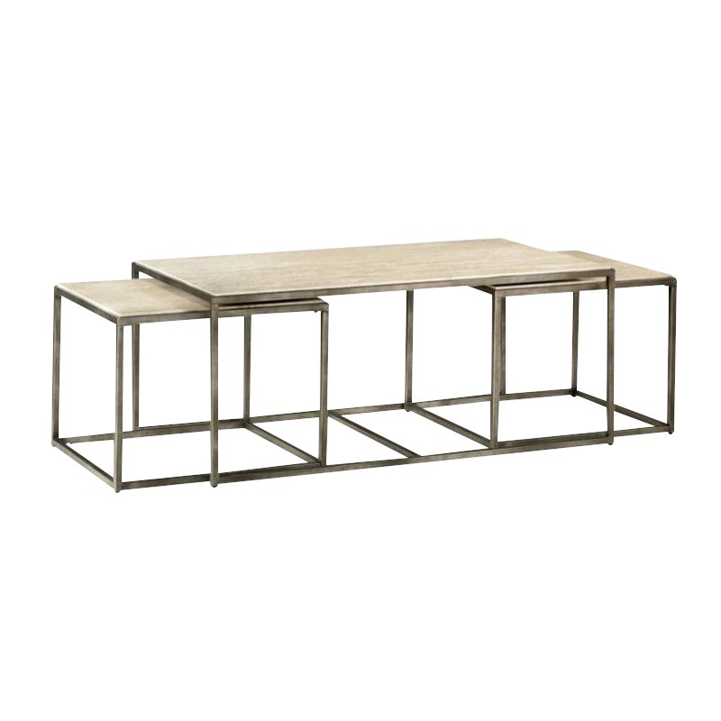 Hammary Modern Basics Piece Nesting Coffee Table In Textured - 3 piece nesting coffee table