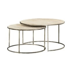 Hammary Modern Basics Nesting Cocktail Table in Textured Bronze