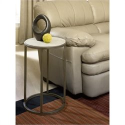 Hammary Modern Basics Round End Table in Textured Bronze
