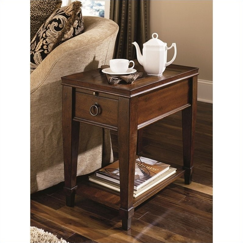 Sunset Valley Chairside Table in Rich Mahogany