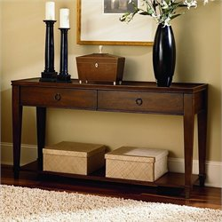 Hammary Sunset Valley Sofa Table in Rich Mahogany