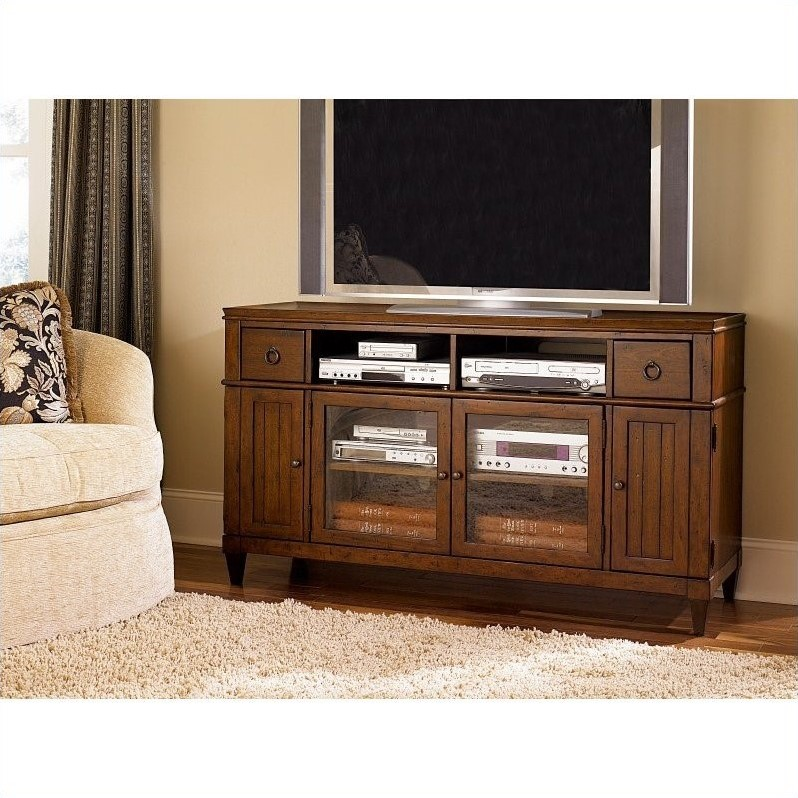 Hammary Sunset Valley Entertainment Console in Rich Mahogany