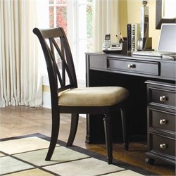 Hammary Camden Upholstered Seat Desk Office Chair in Black