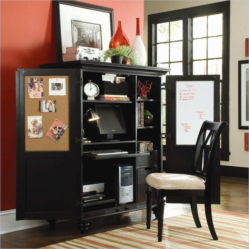 Camden Home Office Cabinet in Black