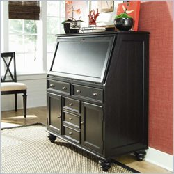 Hammary Camden Drop Lid Work Station in Black