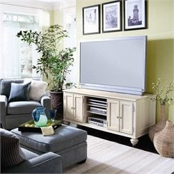 Hammary Camden 64 Inch Entertainment Center in Painted White