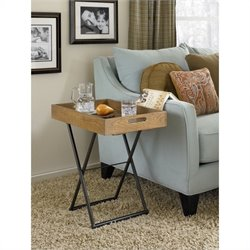 Hammary Hidden Treasures Adjustable Tray Table in Rustic