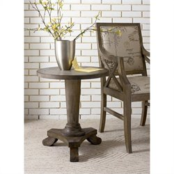 Hammary Hidden Treasures Driftwood Pedestal Table in Driftwood