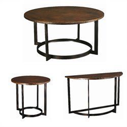 Hammary Nueva 3pc Occasional Table Set in Aged Copper