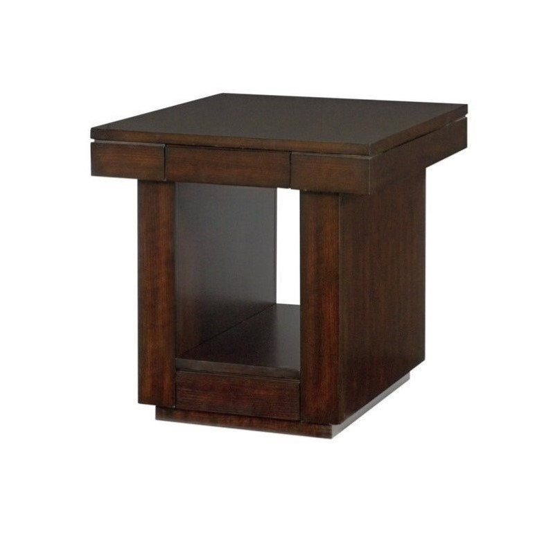 Hammary Uptown Drawer End Table in Mocha