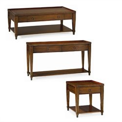 Hammary Sunset Valley Table Set in Rich Mahogany