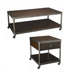 Hammary Structure 3 Piece Rectangular Table Set in Distressed Brown