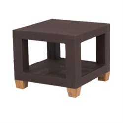 Three Birds Casual Ciera Square Patio End Table in Coffee