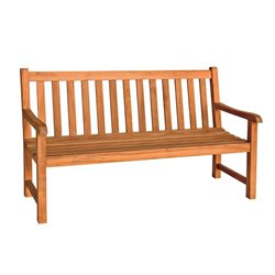 Three Birds Casual Classic Patio 5' Bench in Teak