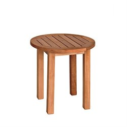 Canterbury Round Teak End Table