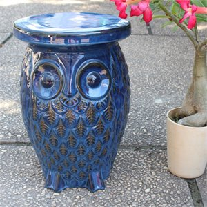 Catalina Wise Owl Ceramic Garden Stool