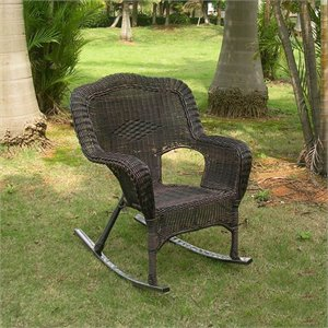International Caravan Monaco Patio Rocker in Antique Pecan