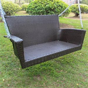 International Caravan Kingston Patio Swing in Antique Black