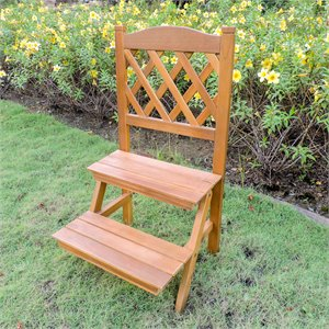 International Caravan Royal Fiji 2 Tier Plant Stand in Stain