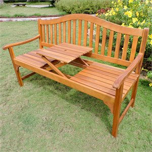 International Caravan Royal Fiji Adjustable Patio Bench