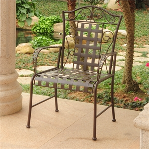 Mandalay Iron Patio Dining Chair (Set of 2)