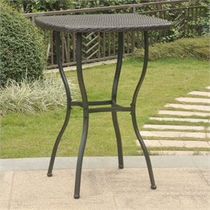 Valencia Resin Wicker Bar-Height Bistro Table