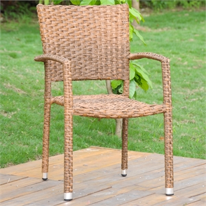 Ibiza Resin Wicker Aluminum Dining Chair (Set of 2)