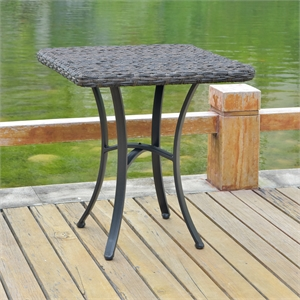 Ibiza 28-inch Resin Wicker Aluminum Bistro Table