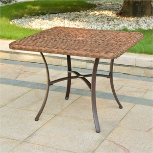 Ibiza 39-inch Resin Wicker Aluminum Dining Table