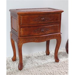 International Caravan Windsor 2-Drawer Night Stand in Dual Walnut Stain