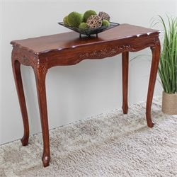 International Caravan Windsor Indoor Console Table in Dual Walnut Stain