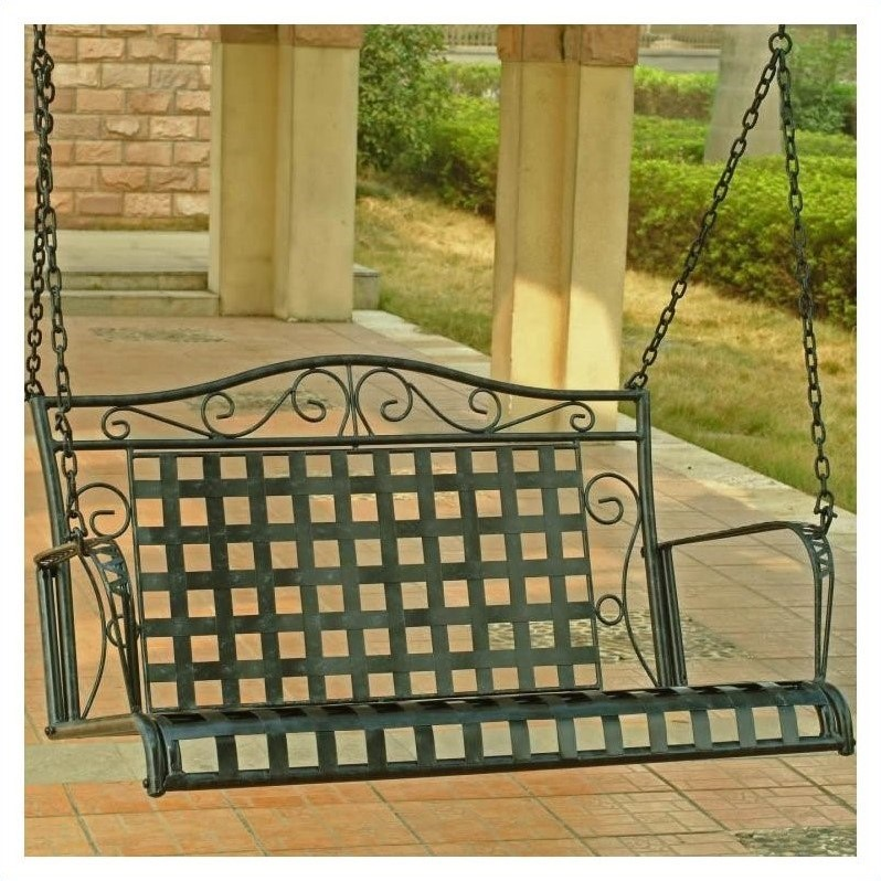 Mandalay Iron 4-ft  Porch Swing