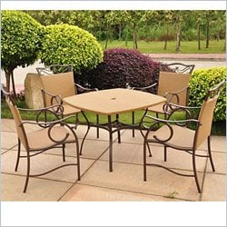 International Caravan Valencia 5 Piece Wicker Patio Dining Set
