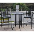 International Caravan Mandalay 3-Piece Iron Patio Bar-height Bistro Set
