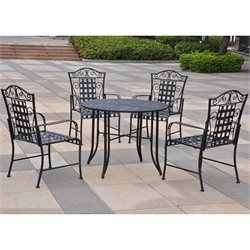 International Caravan Mandalay 5 Piece Metal Patio Dining Set