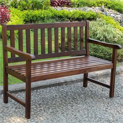 International Caravan Highland Patio Garden Bench in Brown