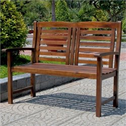 International Caravan Highland Acacia Trinidad 2-Seater Patio Garden Bench