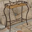 International Caravan Valencia Resin Wicker/Steel Rectangular Outdoor Plant Stand