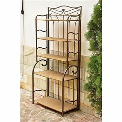 International Caravan Valencia Indoor/Outdoor 5-Tier Bakers Rack