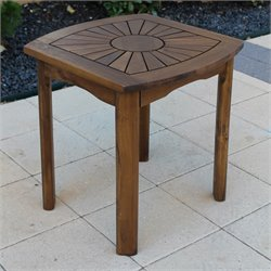 International Caravan Sunburst Outdoor Patio Side Table