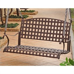 International Caravan Santa Fe Iron 4-Foot Nailhead Hanging Porch Swing