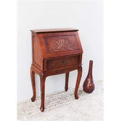 International Caravan Windsor Small Secretary Desk in Dual Walnut