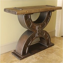 International Caravan Aledo Large Double Horseshoe Console Table